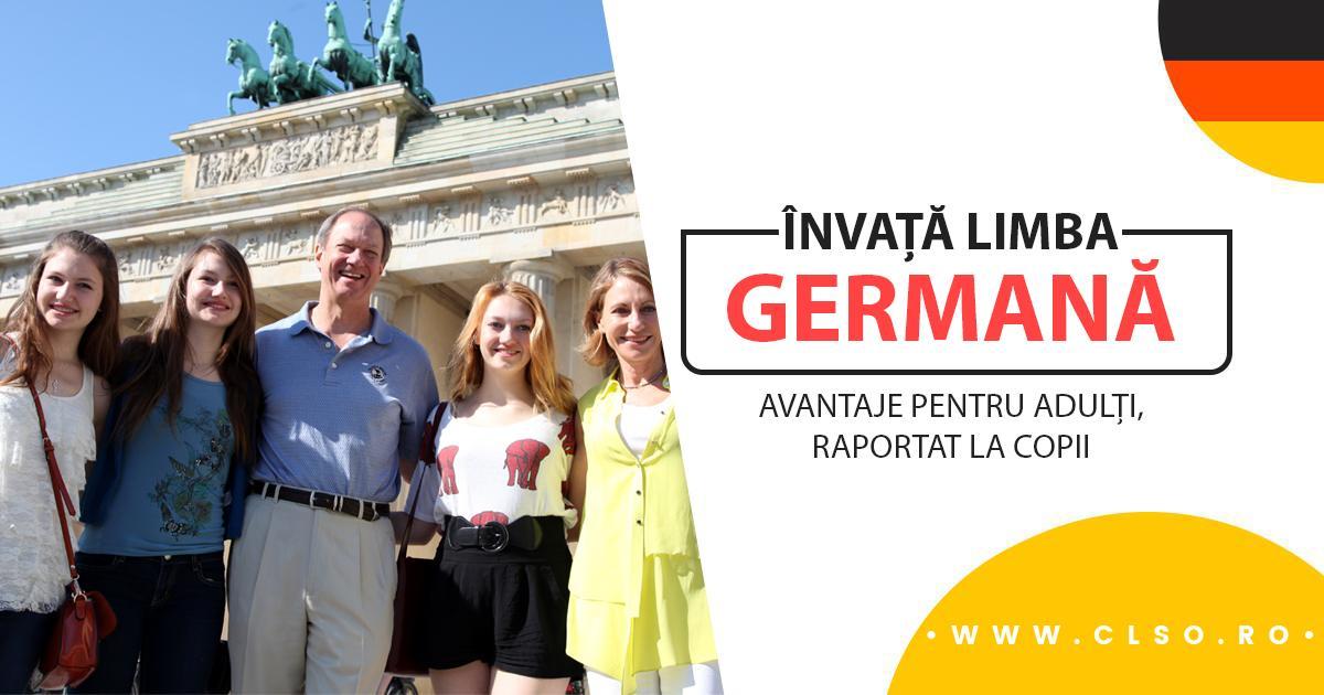 Curs de limba germană – Ce avantaje au adulții comparativ cu cei mici să învețe o limbă străină?